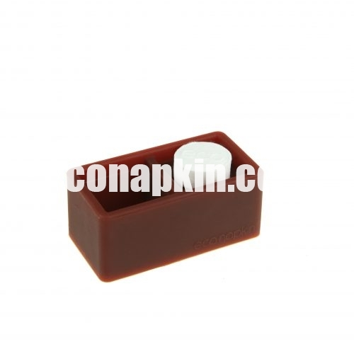 brown compressed napkin holder