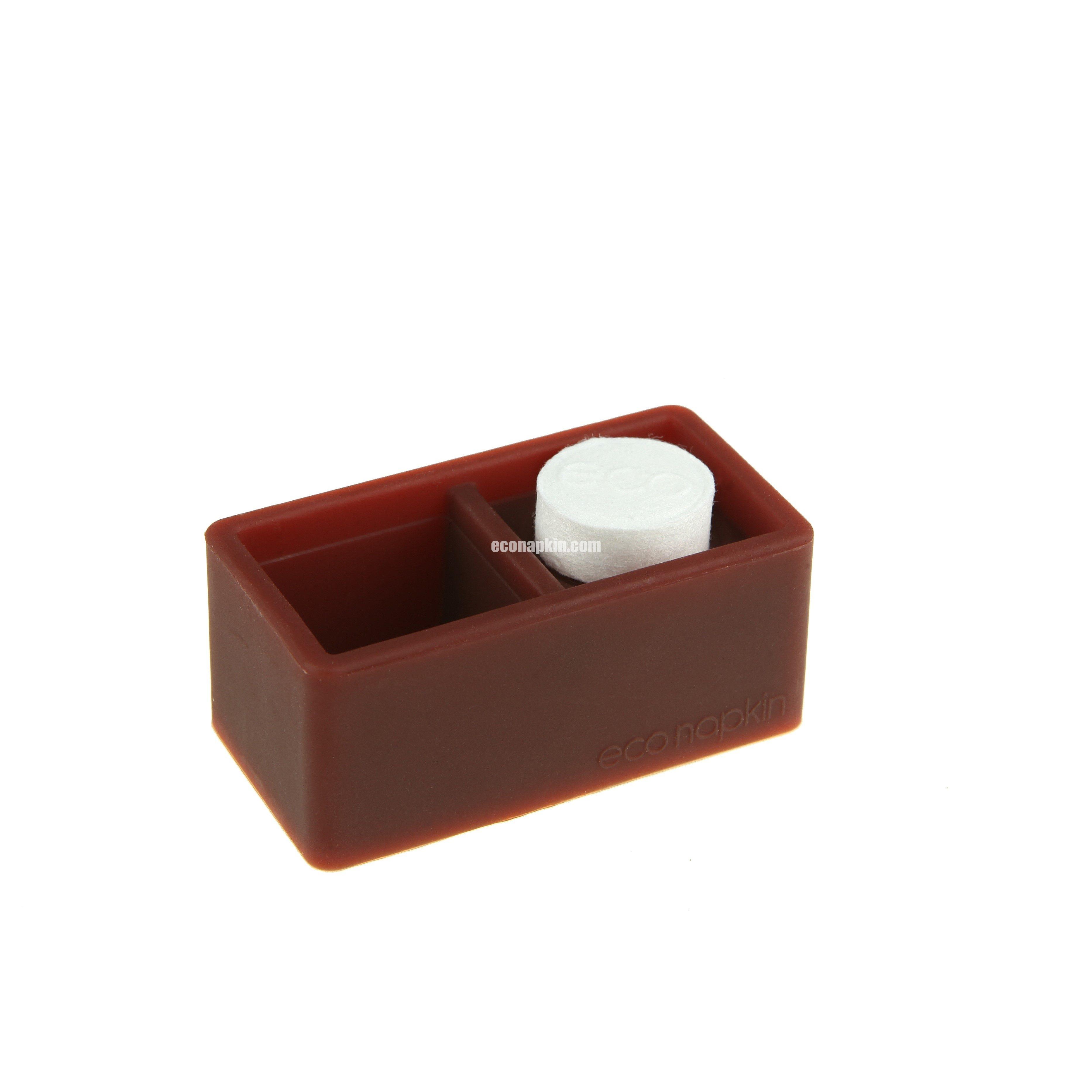 brown compressed napkin holder
