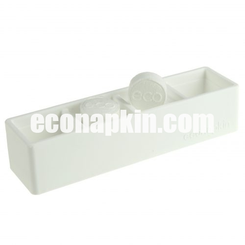 white compressed napkin holder