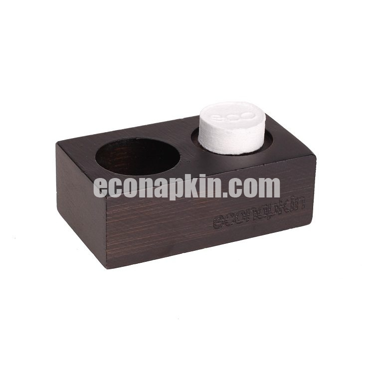 eco napkin, black bamboo,
